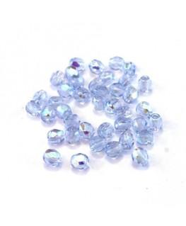 Perles à facettes 4mm bleuet AB x40