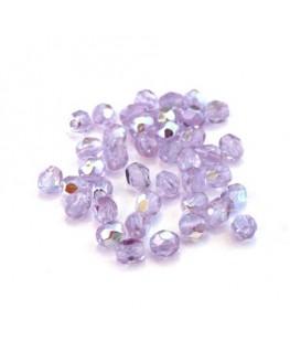 Perles à facettes 4mm lilas AB x40