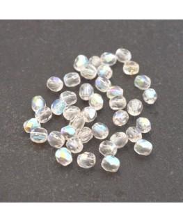 Perles à facettes 4mm cristal AB x40