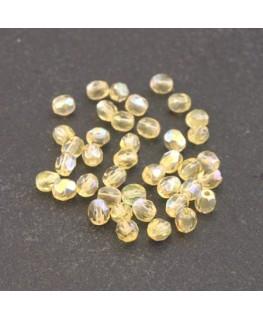 Perles à facettes 4mm jonquille AB x40