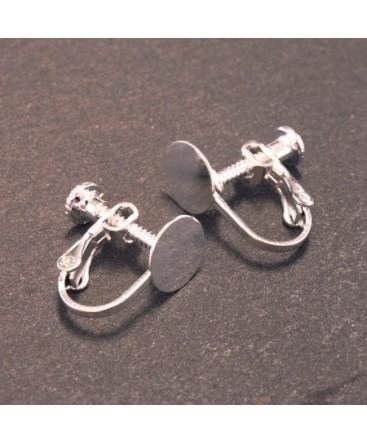 Attaches boucles d'oreilles clip avec plateau à coller