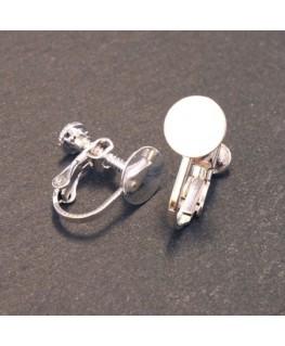 Attaches boucles d'oreilles clip plateau à coller 8mm