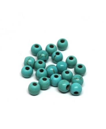 Perles gemmes turquoise 4mm