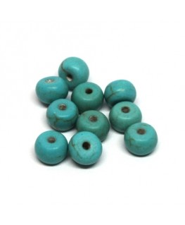 Perles turquoise rondelle 6mm