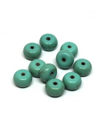 Perles turquoise rondelle 8mm
