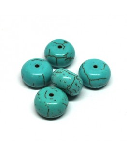 Perles turquoise rondelle 12mm