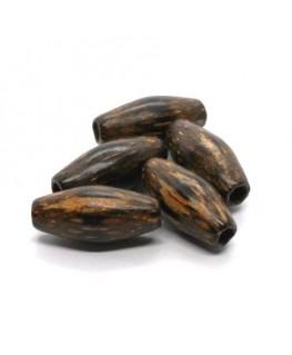 Perles en bois exotique olives 23mm