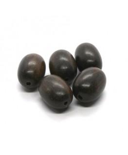 Perles en bois exotique olives 15mm