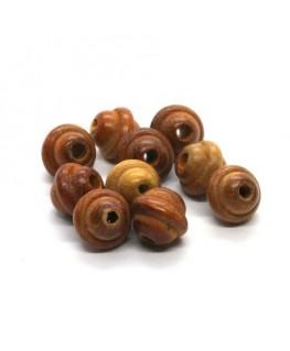Perles en bois exotique bayong 11mm