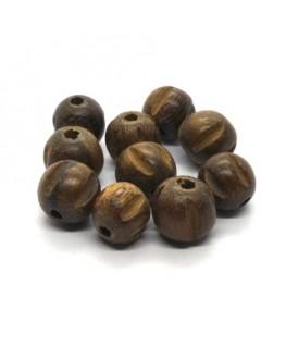 Perles en bois exotique 10mm