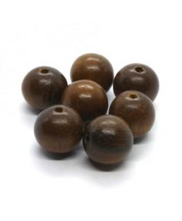 Perles en bois exotique robles 15mm