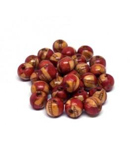 Perles en bois Indiennes imprimées 8mm