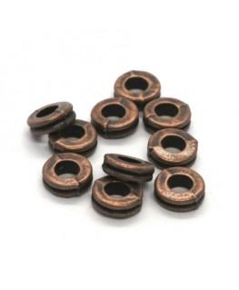 Perles rondelles intercalaires cuivre 6mm