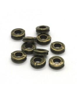 Perles rondelles intercalaires bronze 6mm