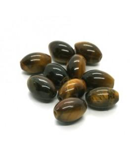 Perles oeil de tigre olives 12mm