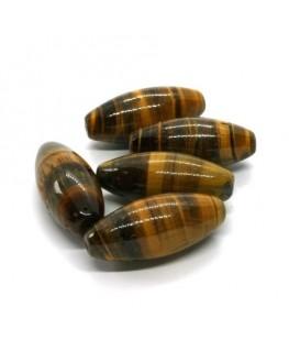 Perle oeil de tigre olive 28mm