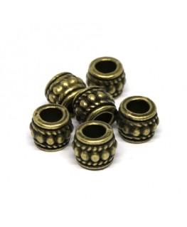 Perles métal tonneau 8mm bronze