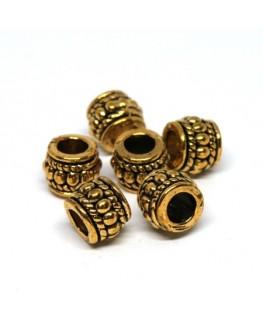 Perles métal tonneau 8mm doré