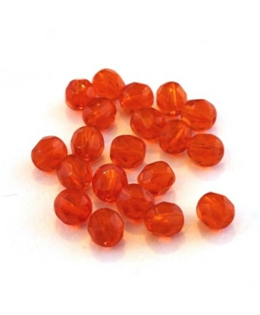 Perles à facettes 6mm orange