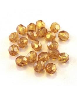 Perles à facettes 6mm topaze lustré