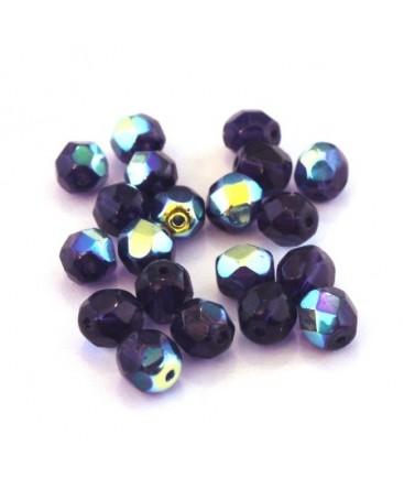 Perles à facettes 6mm violet irisé AB