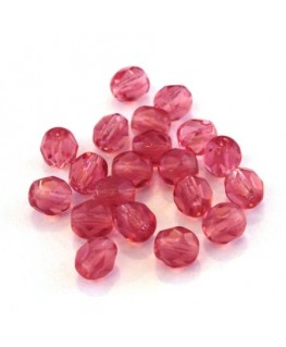 Perles à facettes 6mm rose