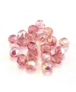 Perles à facettes 6mm rose et pêche