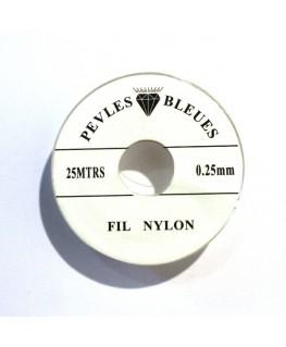 Fil nylon 0,25 x 25m