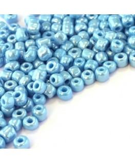 Perles de rocailles 4mm turquoise opaque lustré