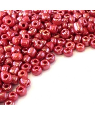 Perles de rocailles 4mm rouge opaque lustré