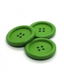 Bouton en bois 30mm vert
