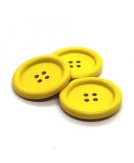 Bouton en bois 30mm jaune