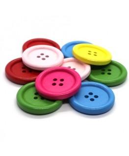 Assortiment boutons en bois 30mm