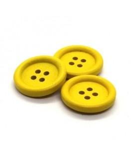 Bouton en bois 20mm jaune