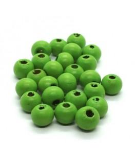 Perles en bois 8mm vert x50