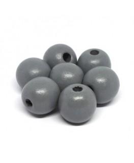 perles en bois gris 16mm x10
