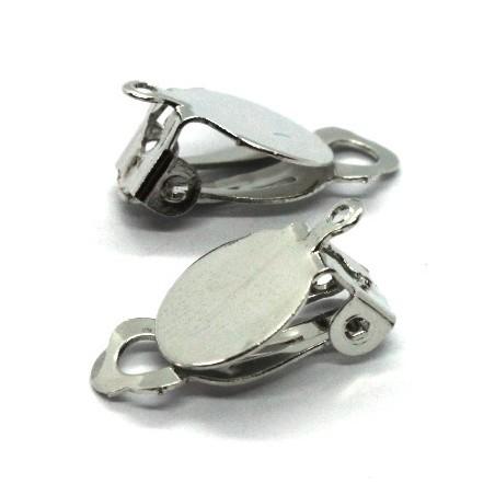 Attaches boucles d'oreilles clip plateau 10mm
