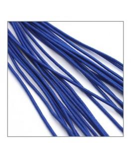 fil élastique gainé 1mm bleu