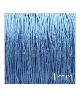 Fil nylon tressé 1mm bleu clair