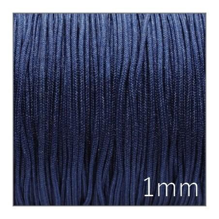 Fil nylon tressé 1mm bleu foncé