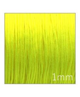 Fil nylon tressé 1mm jaune fluo