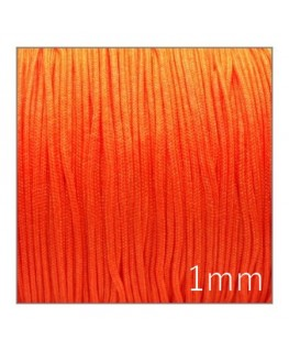 Fil nylon tressé 1mm orange fluo
