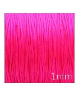 Fil nylon tressé 1mm rose fluo
