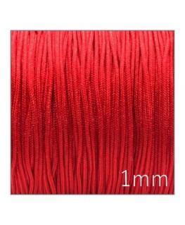 Fil nylon tressé 1mm rouge