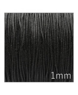 Fil nylon tressé 1mm noir