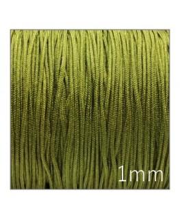 Fil nylon tressé 1mm vert