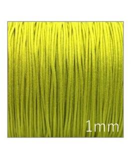 Fil nylon tressé 1mm vert clair