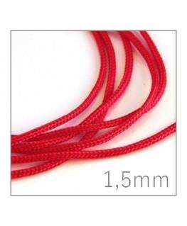 cordon nylon tressé 1,5mm rouge