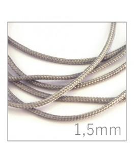 cordon nylon tressé 1,5mm gris