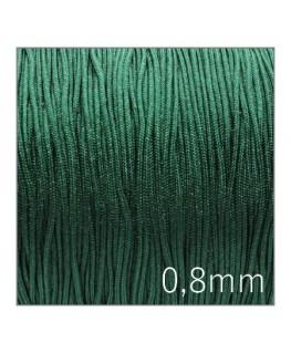 Fil nylon tressé 0,8mm vert émeraude